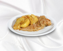Chicken fillet with grilled potatoes